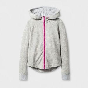 New CAT & JACK Zip-Up Hooded Sweatshirt HOODIE